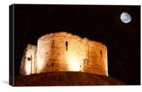 Cliffords Tower at Midnight, Canvas Print