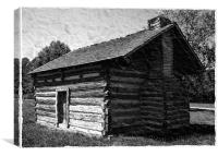 Civil War Era Log Cabin, Canvas Print