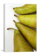 Pears over white, Canvas Print
