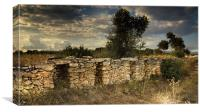 Shelter of the threshing floor of the  Capona., Canvas Print