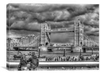 Look To The Tower Bridge, Canvas Print