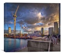 The Docklands London, Canvas Print