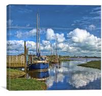 High Tide at Skippool Creek, Canvas Print