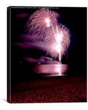 Fireworks out to sea, Canvas Print