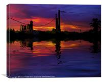Busy Sunset, Canvas Print