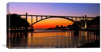 Sunset and Arabida Bridge, Canvas Print