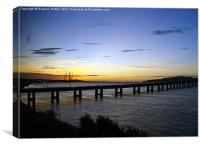Tay Bridge at 6am, Canvas Print