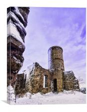 Snowblasted Tower, Canvas Print
