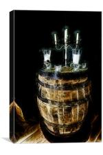 Barrel Table, Canvas Print