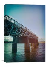 Rail Bridge Blues, Canvas Print
