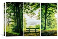 The Bench, Canvas Print