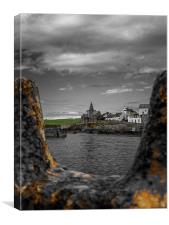 Across the water to St Monans, Canvas Print
