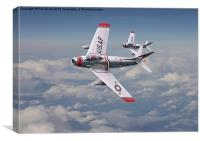 F86 Sabre - Fighter School pair, Canvas Print
