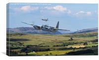 RAF Mosquito - Train Buster, Canvas Print