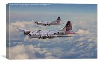 B17 - 381st Bomb Group en-route, Canvas Print