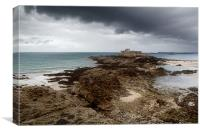 Fort National, St. Malo, France, Canvas Print