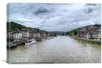 Dinant on the River Meuse, Canvas Print
