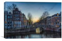 Twilight in Amsterdam, Canvas Print