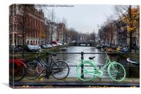 Green Transport in Amsterdam, Canvas Print