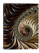 Coffee and Cream - A Fractal Abstract, Canvas Print