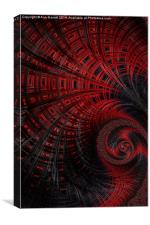 Red Box - A Fractal Abstract, Canvas Print