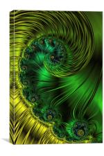 Lemons and Limes A Fractal Abstract, Canvas Print