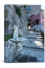 Old Street at Marina Grande in Sorrento Italy, Canvas Print