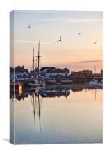 Sunset Harbour, Wells-Next-The-Sea, Canvas Print