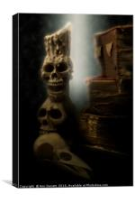Skulls and Old Books, Canvas Print