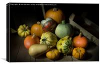 A Crate of Pumpkins, Canvas Print