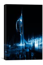 Night Lights in Portsmouth, Canvas Print