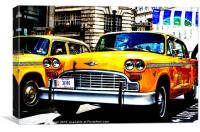 NEW YORK TAXI IN LONDON, Canvas Print