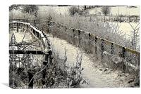 Footpath in Winter, Canvas Print