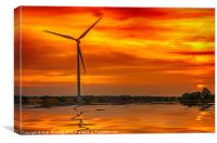 Harvesting The Power Of Wind, Canvas Print