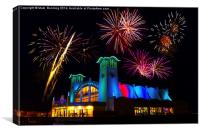 Great Yarmouth summer fireworks, Canvas Print