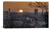 Sunset from Greenwich, Canvas Print