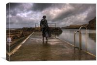 Stormy Weather at Bude, Canvas Print