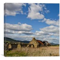 Old Steading, Canvas Print