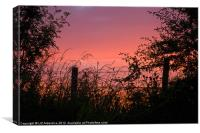 Red Sky at Night, Canvas Print
