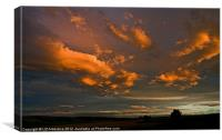 Sunset Clouds, Canvas Print