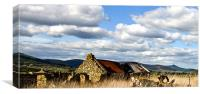 Bennachie with Old Steading, Canvas Print