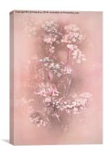 Bouquet in Pastel Pink, Canvas Print