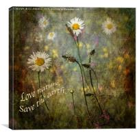 Love Nature - Save the World, Canvas Print