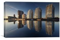 Reflections of Salford Quays, Canvas Print