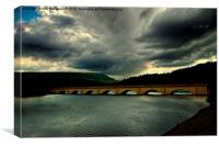 storm clouds ladybower, Canvas Print