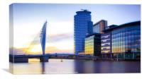 BBC at Media City, Canvas Print