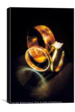 Gold Engagement and Wedding Rings, Canvas Print