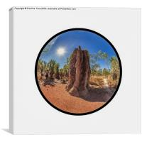 Magnetic Termite Mound, Litchfield National Park , Canvas Print