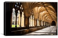 Norwich Cathedral Cloister Walks, Canvas Print