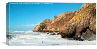Jerseys Wild Coast, Canvas Print